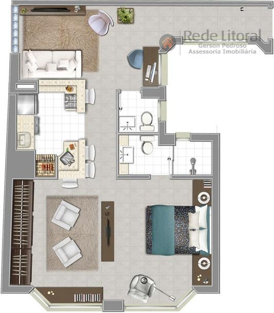 no centro histórico de porto alegre, lofts de 47 a 58 m², opção 1 dormitório com...
