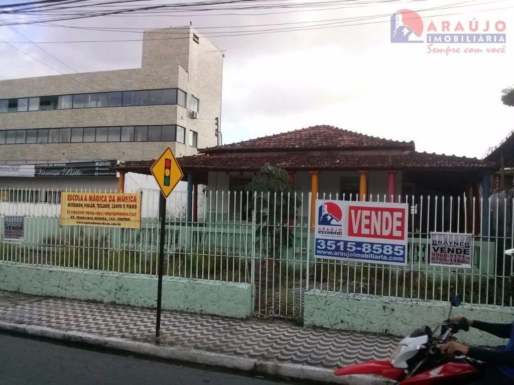 Casa comercial à venda, Tambiá, João Pessoa - CA0200.