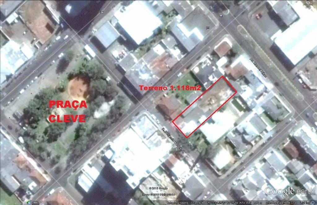 Terreno  comercial no Centro da Cidade (área nobre). Ideal para condomínio vertical!