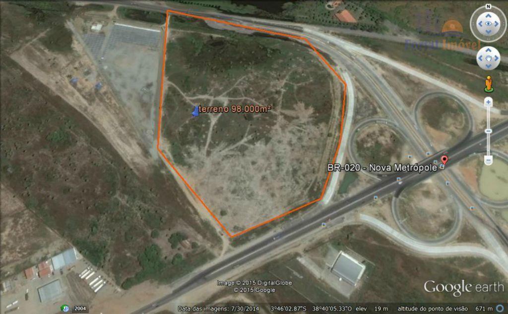 Excelente terreno comercial de 98.000m² no entroncamento da BR222 com BR020