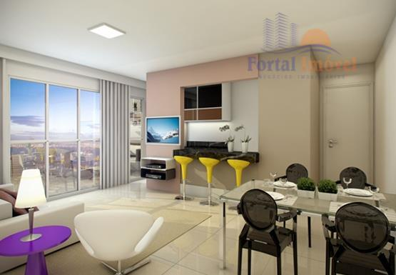 Apartamento no Meireles, Fortaleza com 52m², 3 quartos (1 ste)