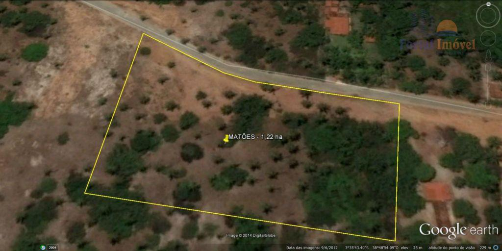 Terreno em Matões (Caucaia) com 12.224m², a 50m da CE 421