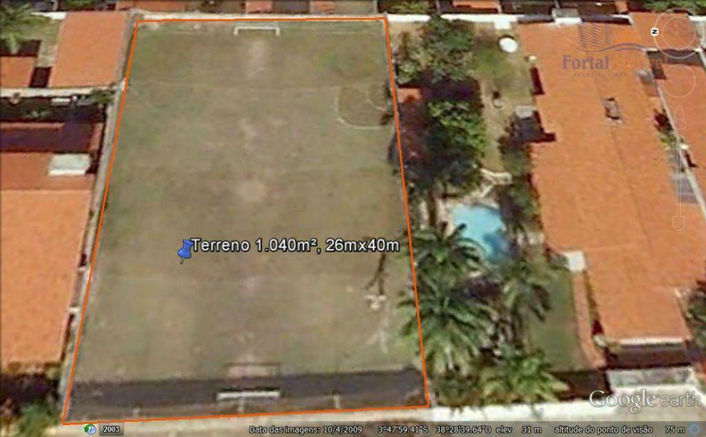 Terreno de 1.040m², 2 lotes, excelente localização, próximo á Av. Washington Soares