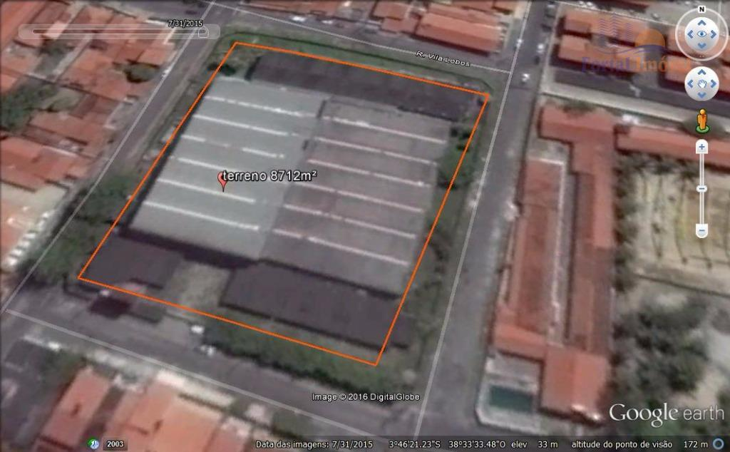 Terreno 8712m² na Parangaba venda ou aluguel