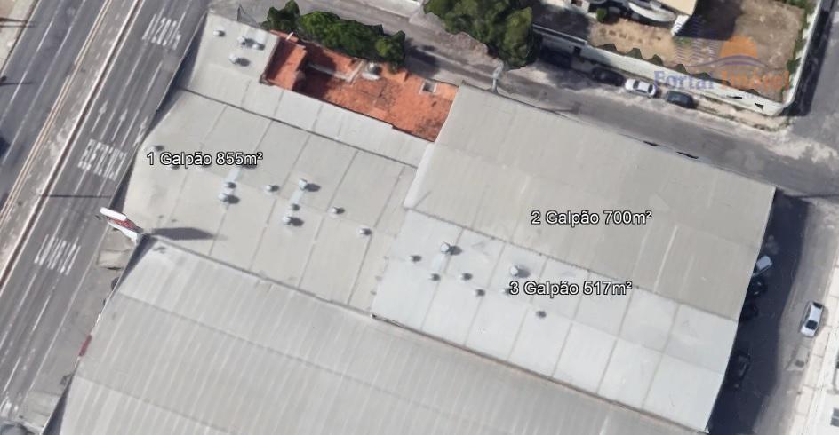 Galpão | Depósito 517m² comercial para locação, José de Alencar, Fortaleza.