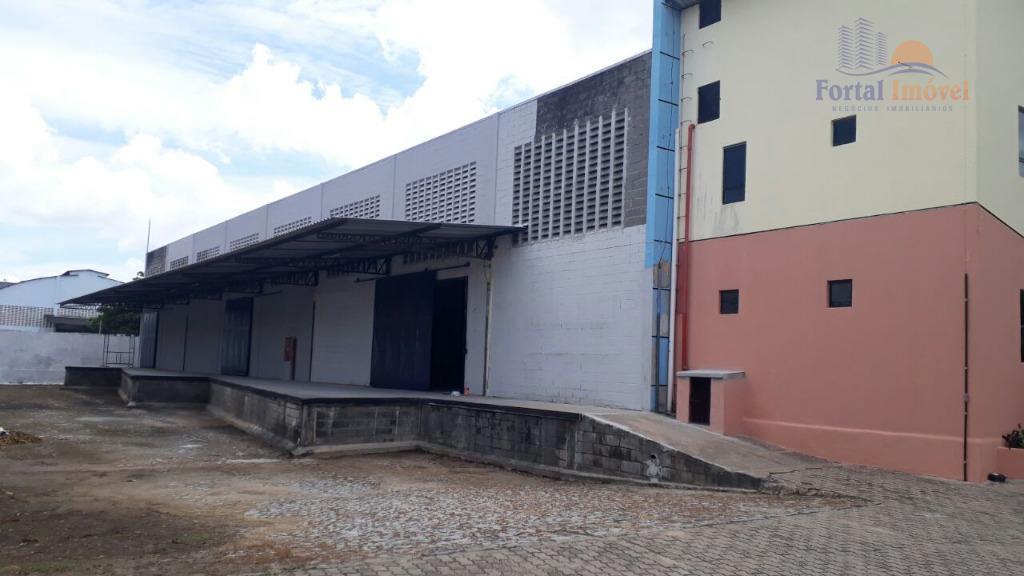 Galpão comercial para locação, Messejana, Fortaleza.