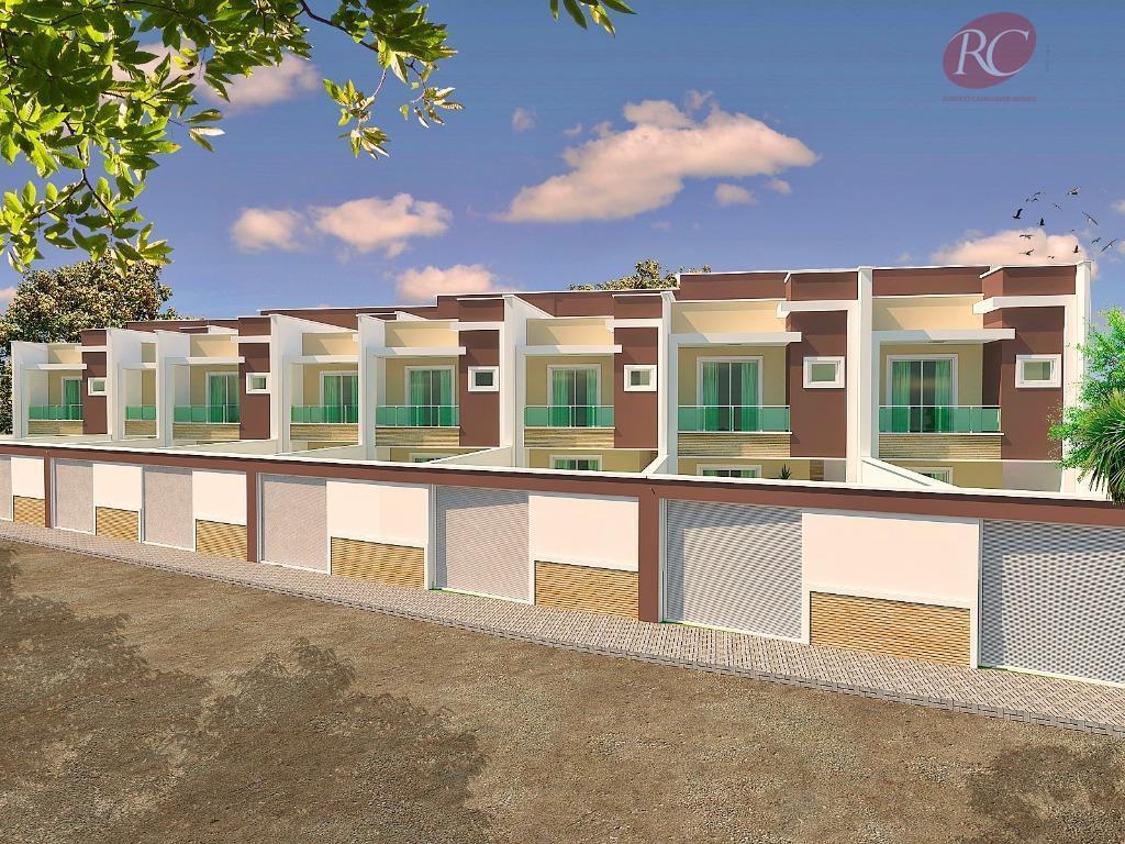Casas duplex no Eusébio com fino acabamento prontas para morar.
