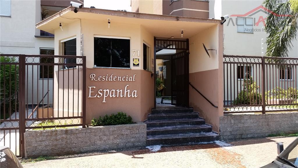 Apartamento residencial à venda, Residencial Espanha, Paulínia.
