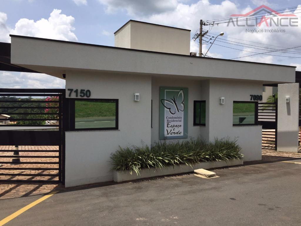 Terreno residencial à venda, Condomínio Espaço e Verde, Campinas.