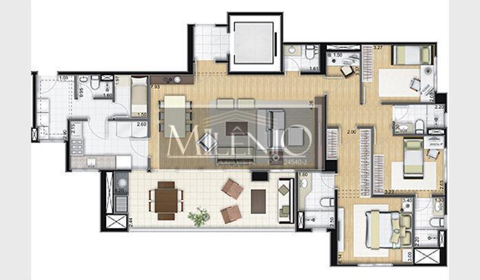 apartamento no bairro privativo paulistano, localizado no coração do morumbi. economize pagando apenas o valor do...