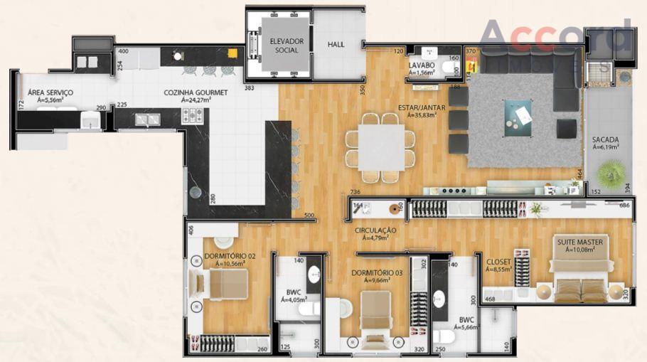 excelente apartamento, contendo 4 quartos, sendo 1 suíte, ampla sala para 2 ambientes, com varanda gourmet,...