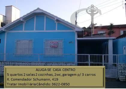 Casa residencial para locação, Centro, Itajubá.