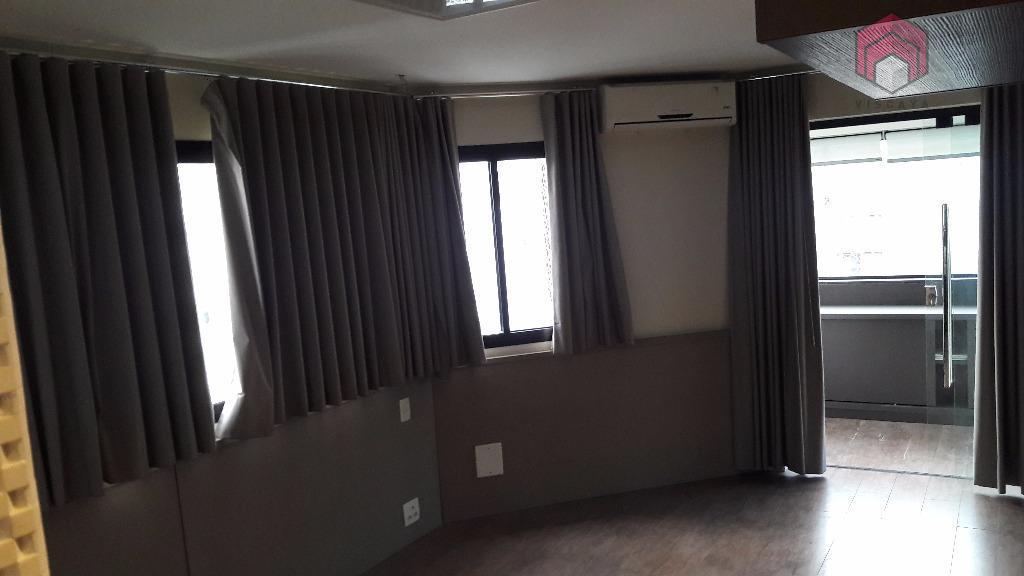 Vista do dormitório com espaço