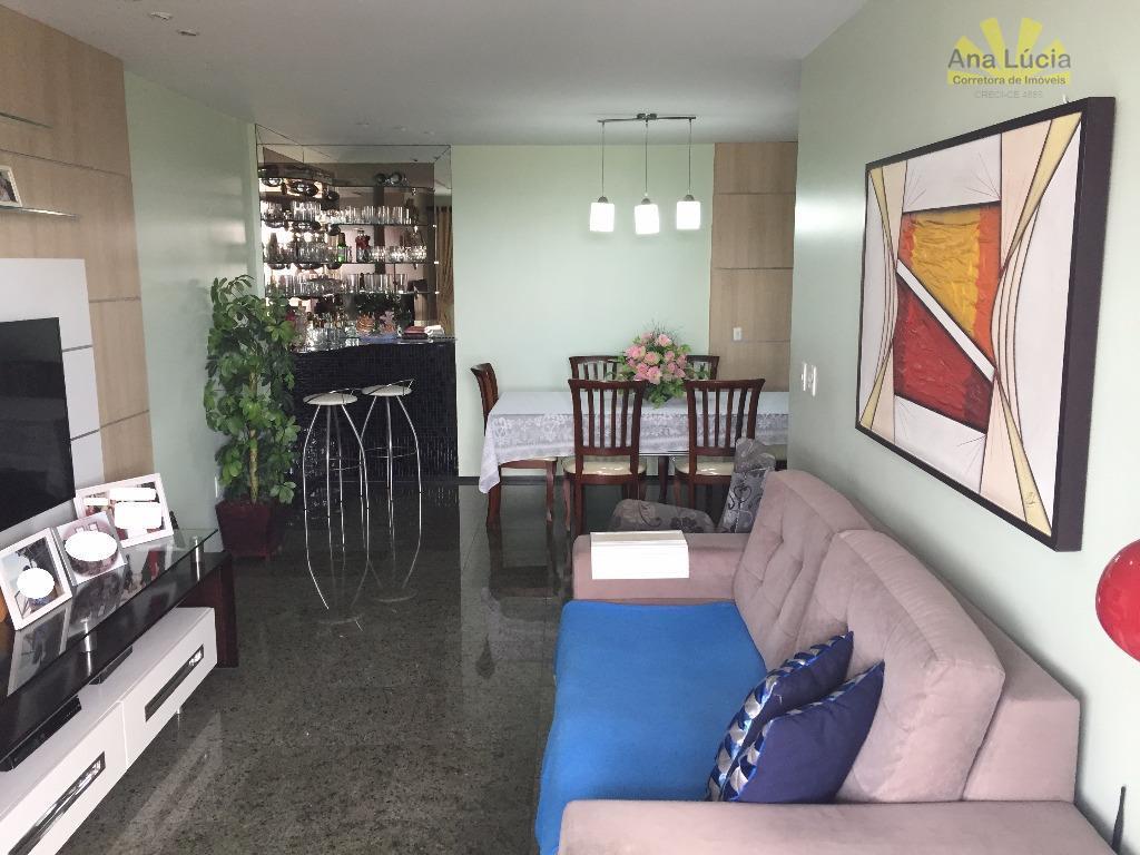 Apartamento 125m², Dionísio Torres 3 suítes com lavabo.