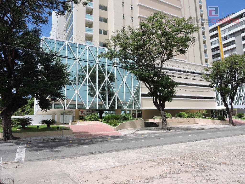 Sala comercial pronta no porcelanato para locação, Aldeota, Fortaleza - SA0015.