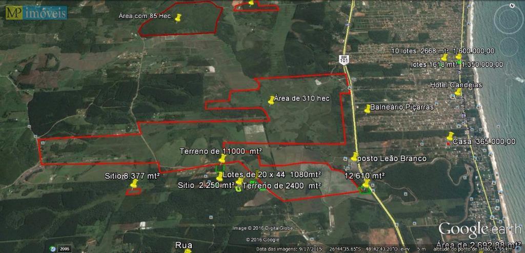 Terreno  industrial à venda, Ponta do Jacques, Balneário Piçarras.