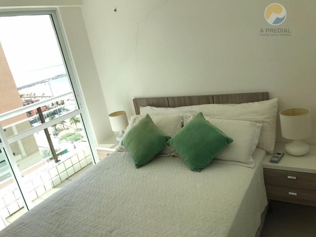 cód. 14316 (praia de iracema) r. historiador raimundo girão, 860, apto 1109ótimo apartamento mobiliado com vista...