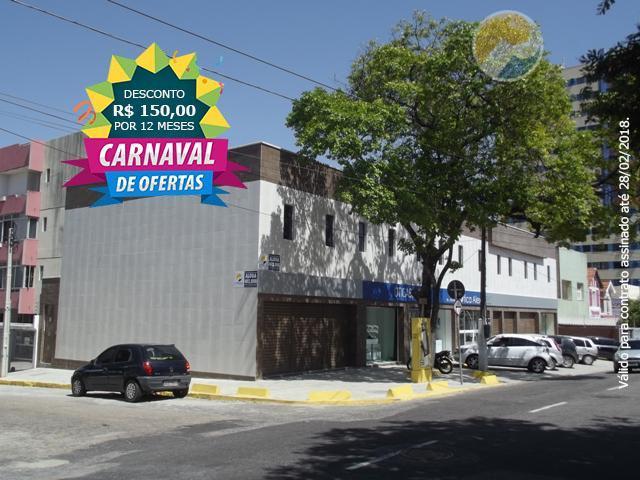 código 12452 (aldeota) rua torres camara 100 sl 06 com área de (41 m2) com lavabo.desconto...