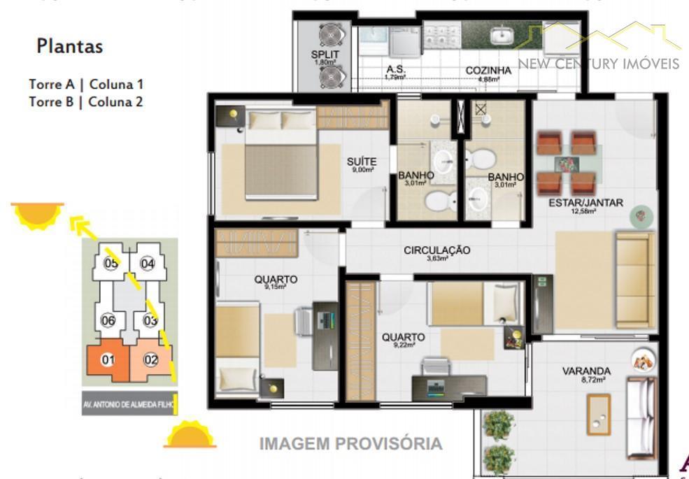 Century 21 Estilo Imóveis - Apto 3 Dorm (AP1345) - Foto 6