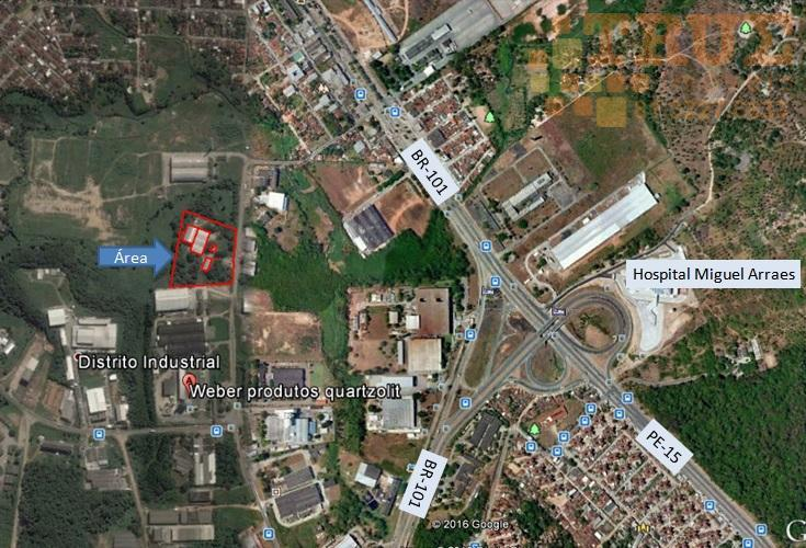 Galpões 3.000 m² e área administrativa de 785 m². Ligar: 81-988925697
