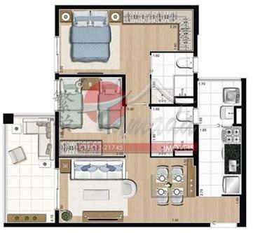 Apartamento de 2 dormitórios em Parque São Jorge, São Paulo - SP