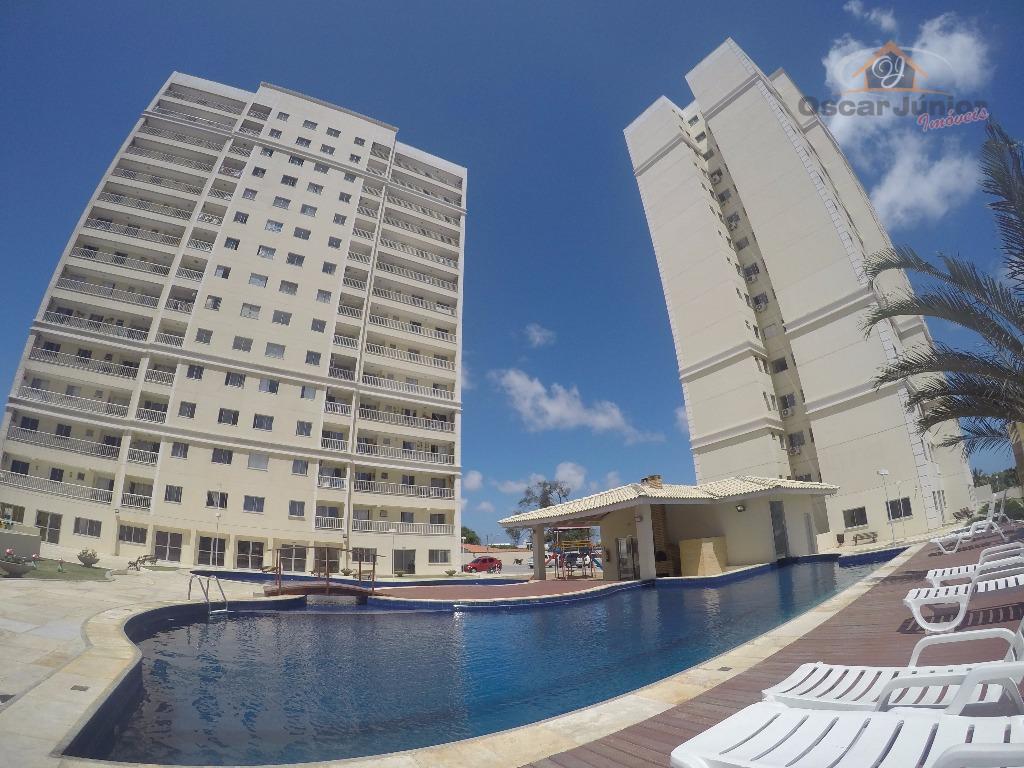 Confortável Apartamento 2 Quartos (1 Suíte Plena), Closet e Móveis Projetados, 1 Vaga, Lazer Completo, Messejana, Fortaleza/CE.