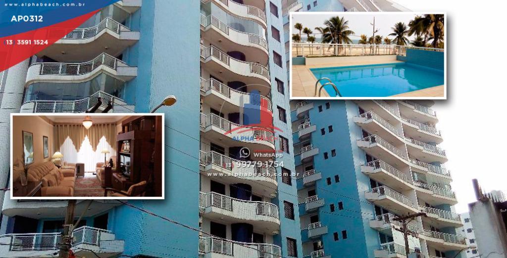 Lindo apartamento em frente ao mar, Alto padrão.