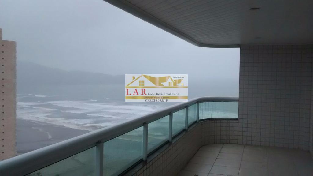 Apartamento com total vista mar à venda, Vila Guilhermina, Praia Grande.