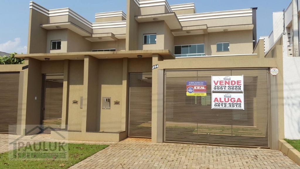 Sobrado residencial para locação, Jardim Residencial Bela Vista, Foz do Iguaçu.