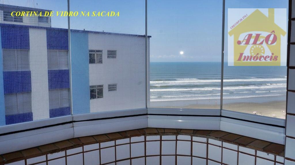 Apartamento  residencial à venda, Cidade Ocian, vista mar,Praia Grande.