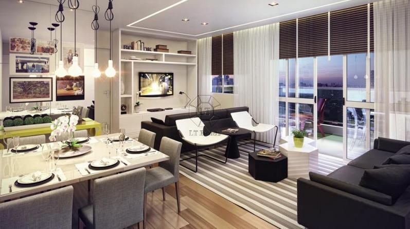 O apartamento para venda de 65 metros quadrados com 2 quartos no bairro Brooklin