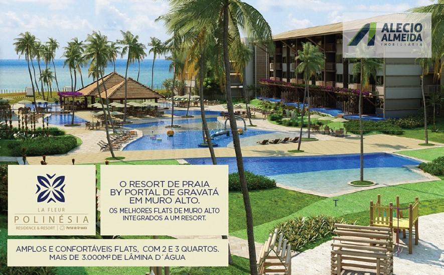 Apartamento residencial à venda, Praia Muro Alto, Ipojuca.