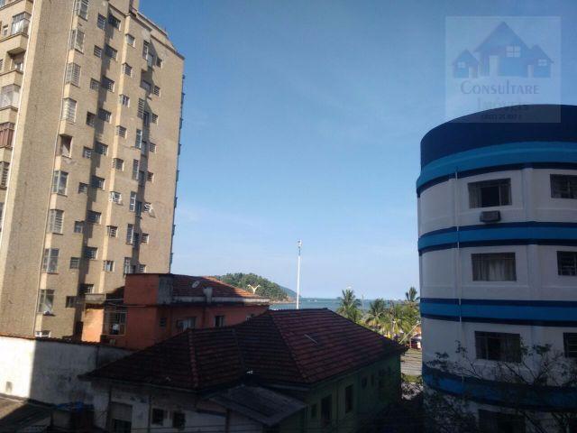 Kitnet  residencial para locação, Itararé, São Vicente.