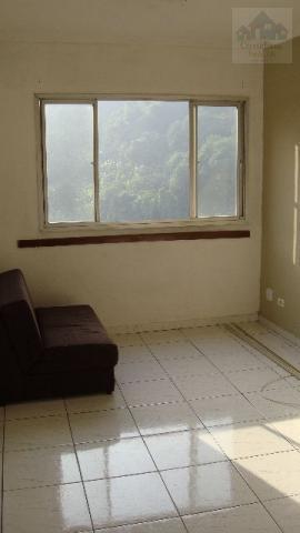 Apartamento residencial à venda, Saboó, Santos.