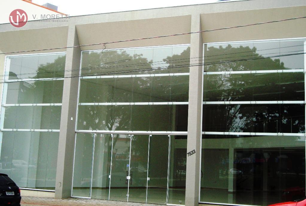 Sala  comercial para locação com 990m², Centro, Cascavel.