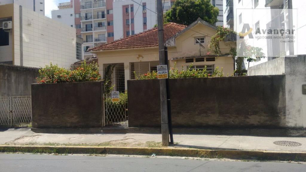 Casa comercial para locação, Aflitos, Recife.